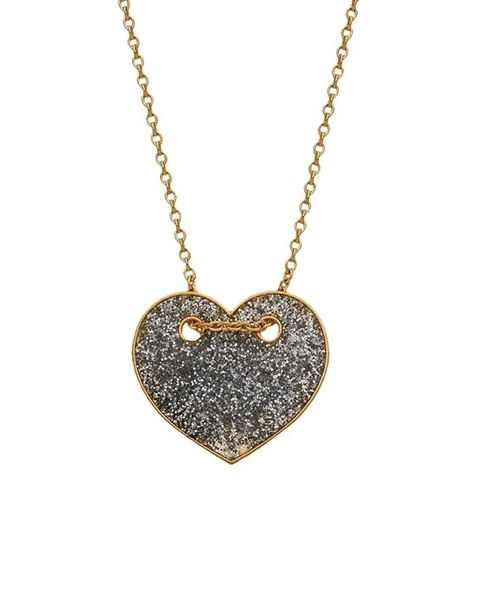 collier fr coeur laque paillete RI